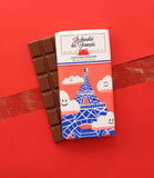 Le chocolat des Francais - 80g Bar - Milk Chocolate & almonds  - Tour Eiffel Nuage