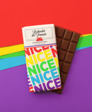 Le chocolat des Francais - 80g Bar - Milk Chocolate - Nice Multi