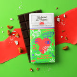 Le chocolat des Francais - 80g Bar - Dark Chocolate, almonds & salted caramel - Cœur