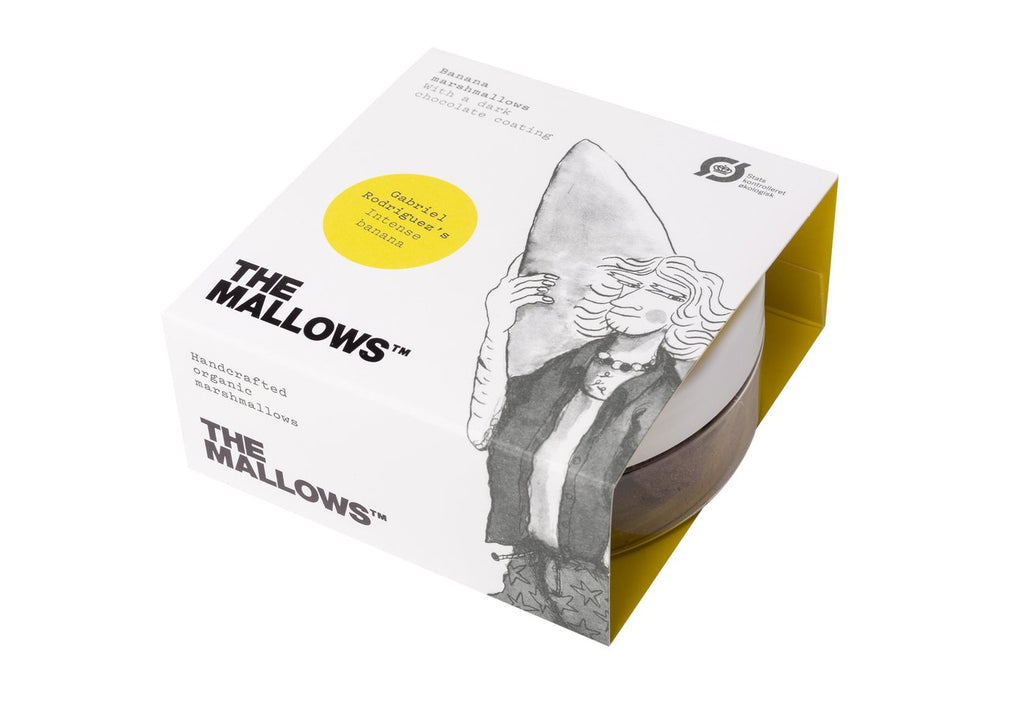 The Mallows Handcrafted Organic Marshmallows - Intense Banana (Small Pot 80g)