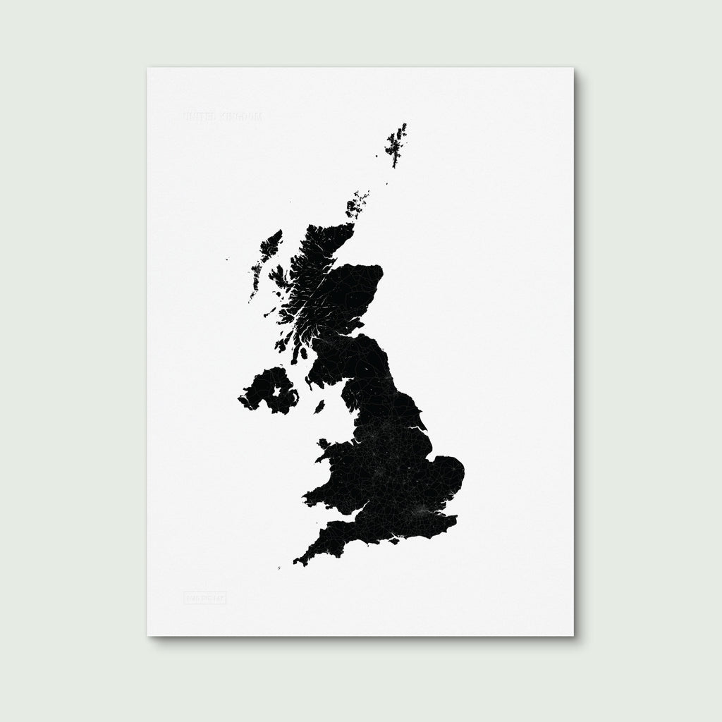 Bold Tuesday UK PRINT Map Poster