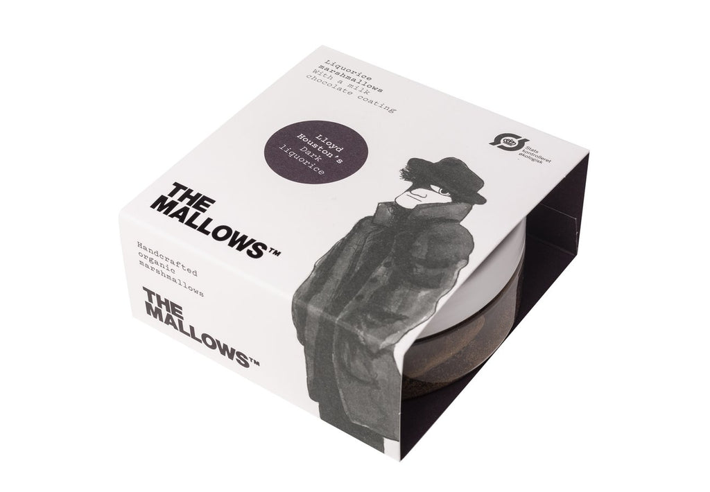 The Mallows Handcrafted Organic Marshmallows - Dark Liquorice (Small Pot 80g)
