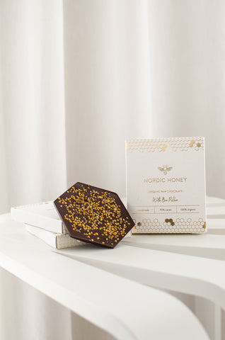 Nordic Honey - Organic Raw Chocolate with Bee Pollen