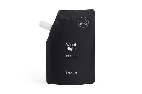 Haan Hand Sanitizer - Wood Night Refill Pouches