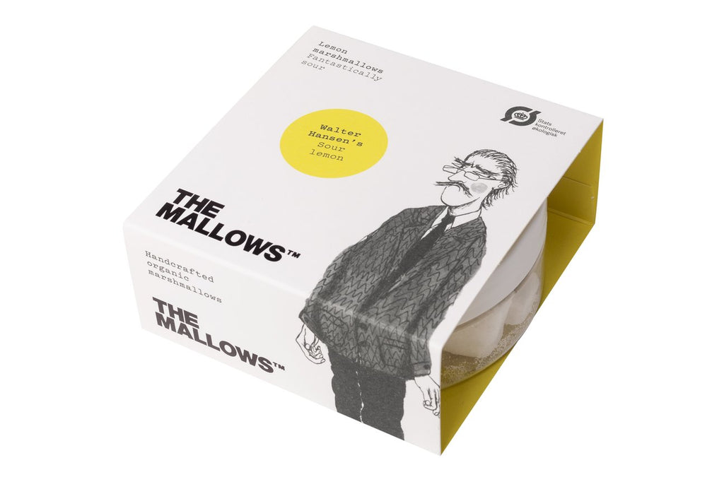 The Mallows Handcrafted Organic Marshmallows - Sour Lemon (65g Small pot)