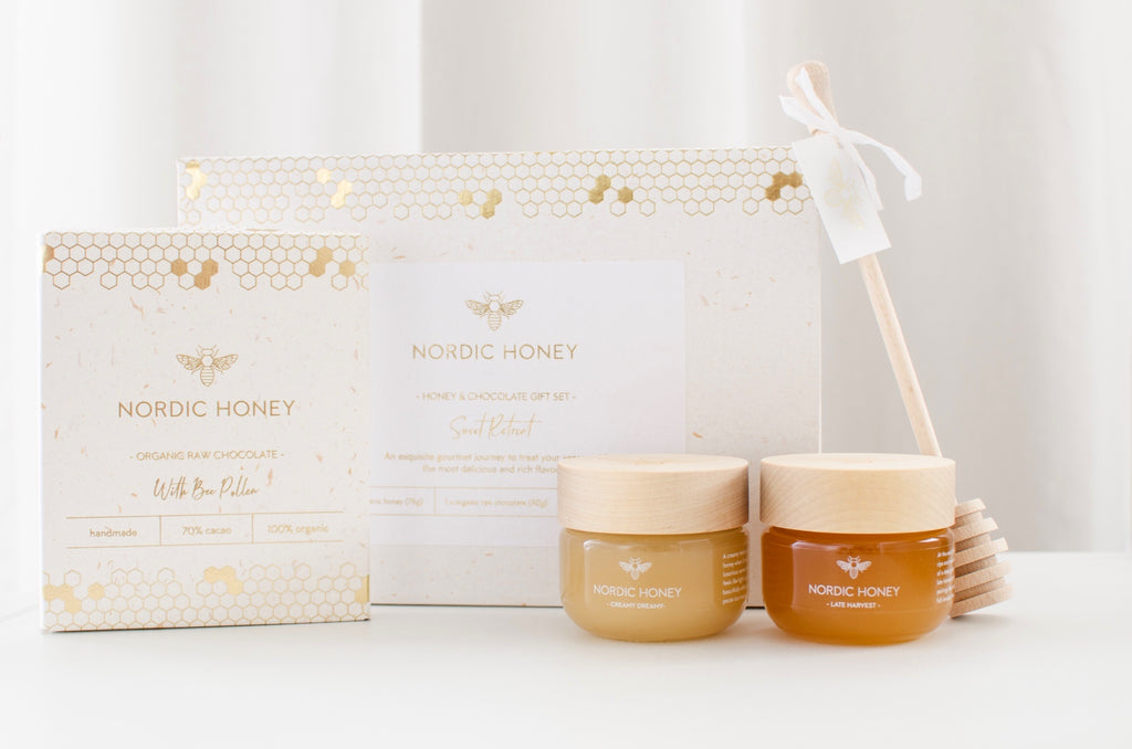 "Organic Nordic Honey and Chocolate Gift Set ""SWEET RETREAT"""