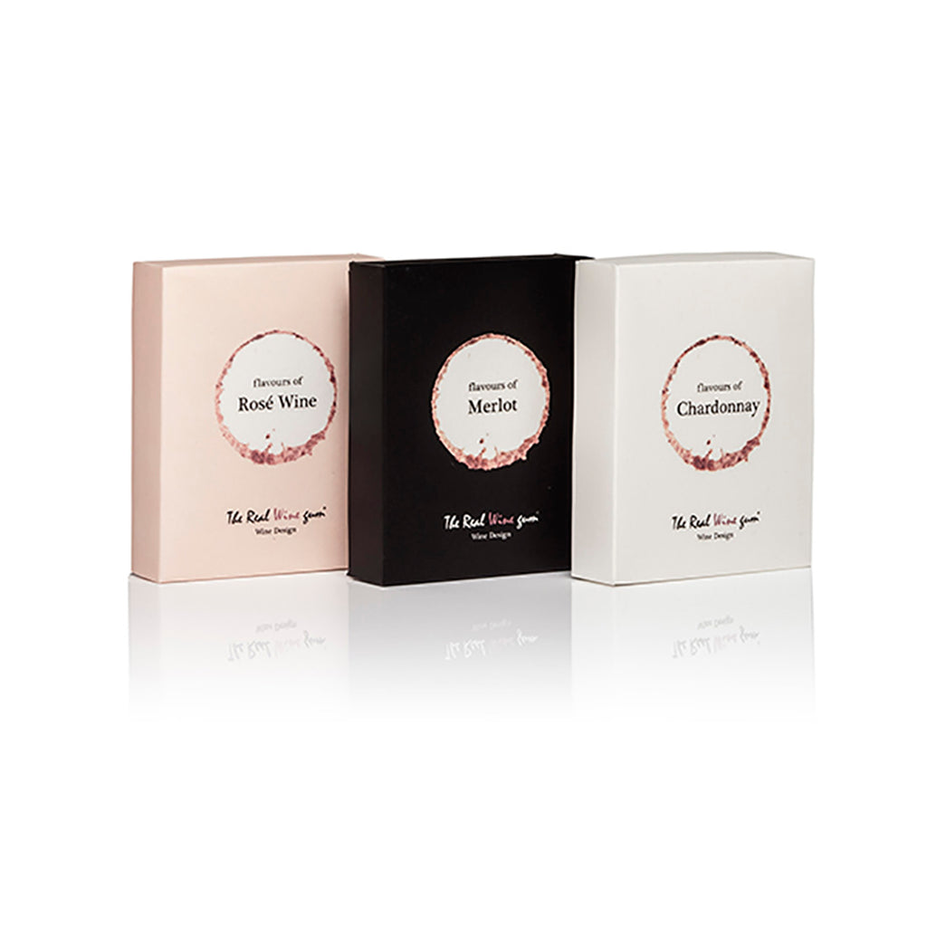 Case of Vinoos Real Wine Gums - Trio Gift Set - Merlot, Chardonnay & Rose