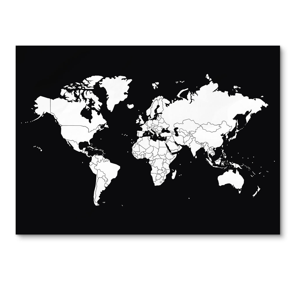 Bold Tuesday GO WORLD Scratch Map Poster