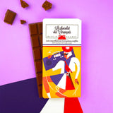 Le chocolat des Francais - 80g Bar - Milk Chocolate  & crispy cereal - Ghettoblaster