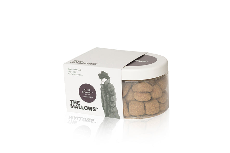 The Mallows Handcrafted Organic Marshmallows - Dark Liquorice (Lloyd Houston)