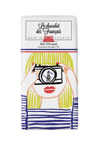 Le chocolat des Francais - 80g Bar - Dark Chocolate - Fille photo