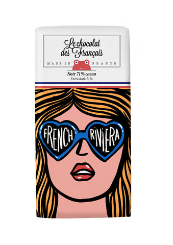 Le chocolat des Francais - 80g Bar - Dark Chocolate - French Riviera Lunettes