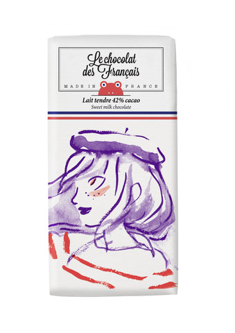 Le chocolat des Francais - 80g Bar - Milk Chocolate - Marine