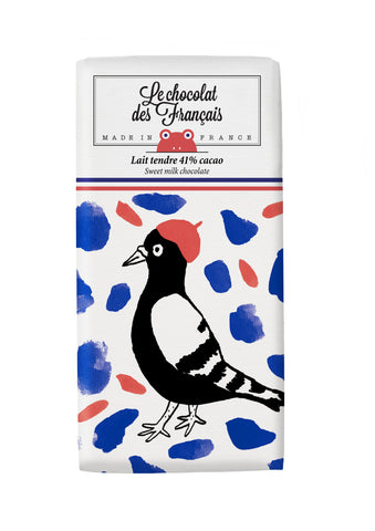 Le chocolat des Francais - 80g Bar - Milk Chocolate - Oiseau