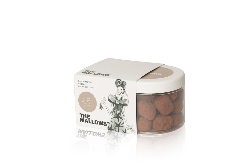 The Mallows Handcrafted Organic Marshmallows - Quirky Coconut (Vivian Laverne)