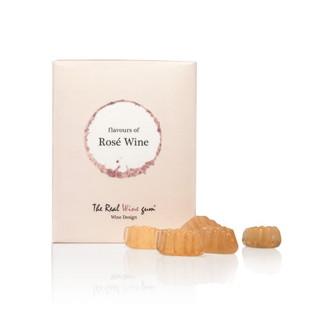 Case of Vinoos Real Wine Gums - Single Gift Box - Rose