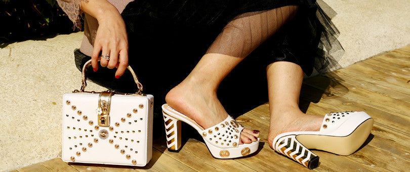 Staying Chick With Your Shoes Matching Bag at a Party!(African Edition For Women)