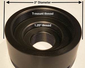 "C mount to 2"" and T adapter"