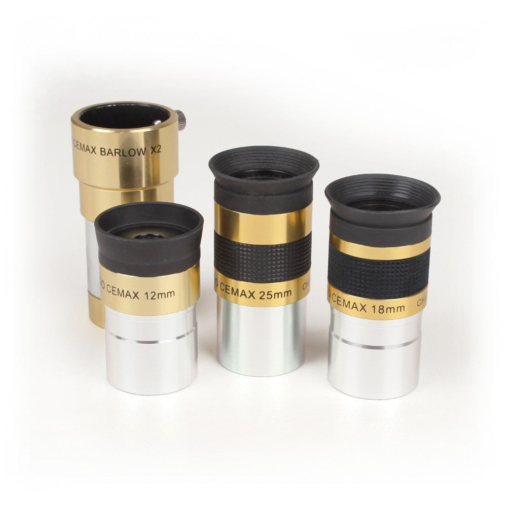 CEMAX Eyepiece set with 2x Barlow (1.25