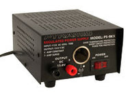 13.8-Volt, 5-Amp Regulated Power Supply with Cigarette Lighter Receptacle (PS138V5A)
