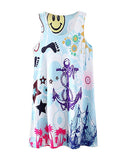 Anchor And Sea Print Vest Dress DR0230009-20