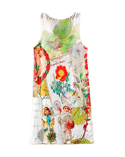 Angels And Flowers Print Vest Dress DR0230009-10