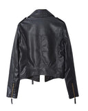 Black PU Biker Jacket With Zip CT0230001