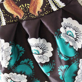 Black Vintage Floral Print Crew Neck Sleeveless Bubble Skirt-DR0230032-3