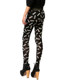 Geek Print Black Skinny Elastic Leggings TR0130001