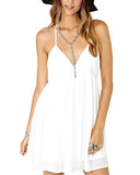 White Mini Chiffon Slip Dress DR0130021