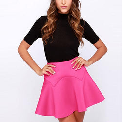 Red Cute High-Waist Ruffle Polyester Skirt-SK0310001