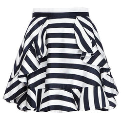 Striped Cute Layered Chiffon Skirt-SK0310004