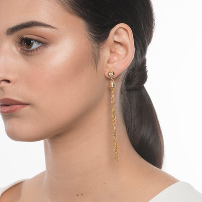 Droplets Tassel Earrings