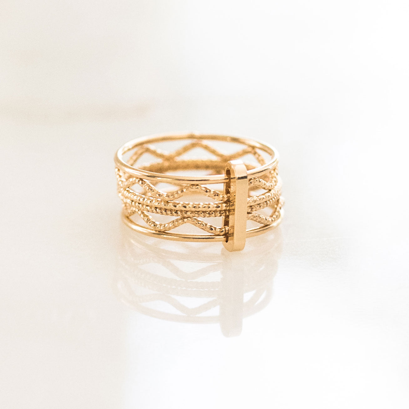 The Circle Stacked Ring