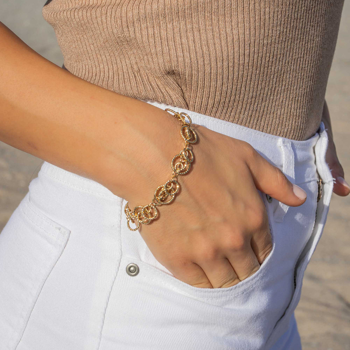 The Circle Chain Link Bracelet