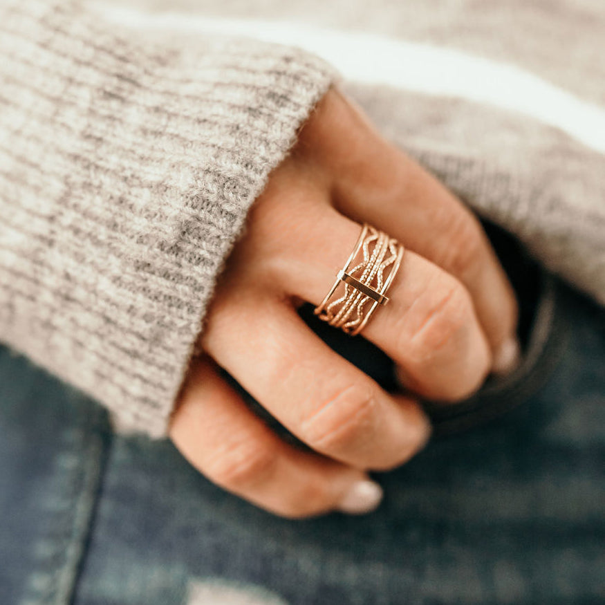 The Wave Stack Ring