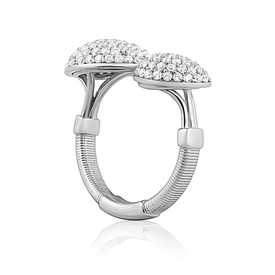 Pavé Heart to Heart Ring