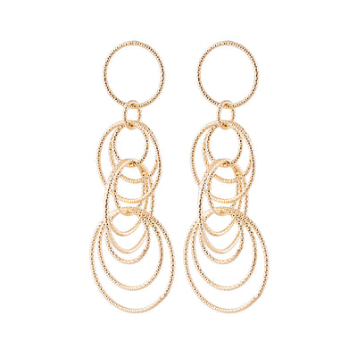 Idalia Jewelry The Cirlce Drop Earrings - Gold