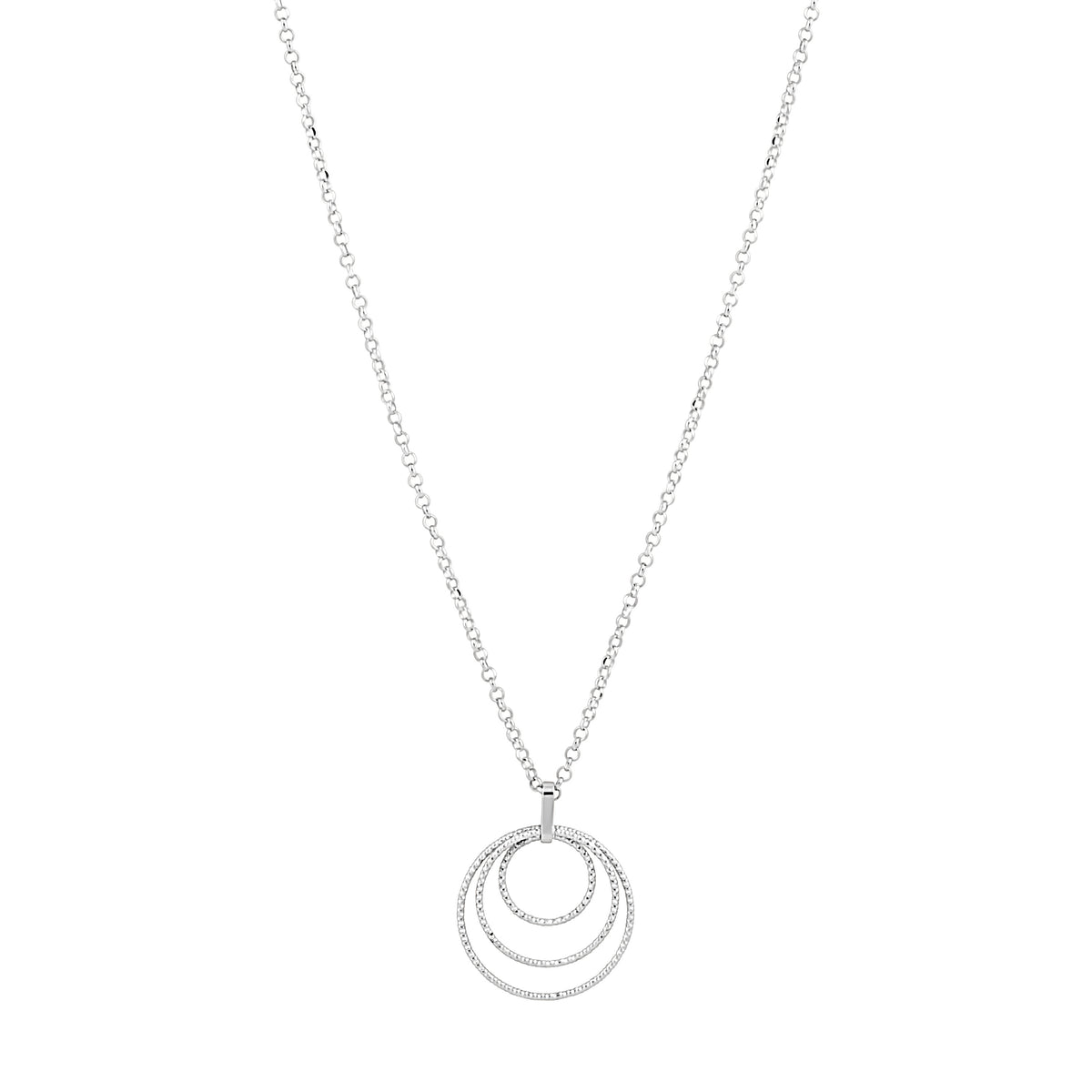 Idalia Jewelry - The Circle Trio Necklace - Silver