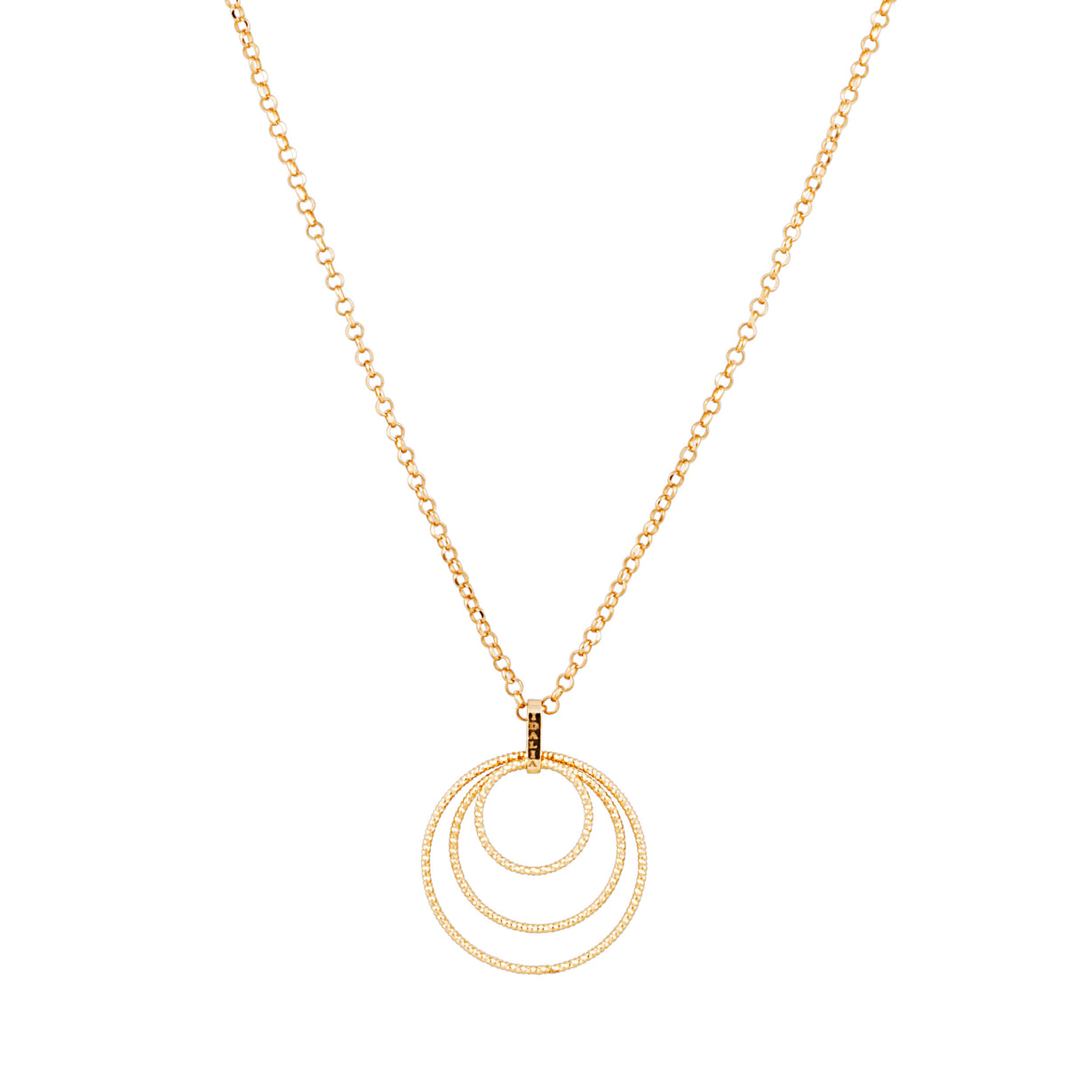 Idalia Jewelry - The Circle Trio Necklace - Gold