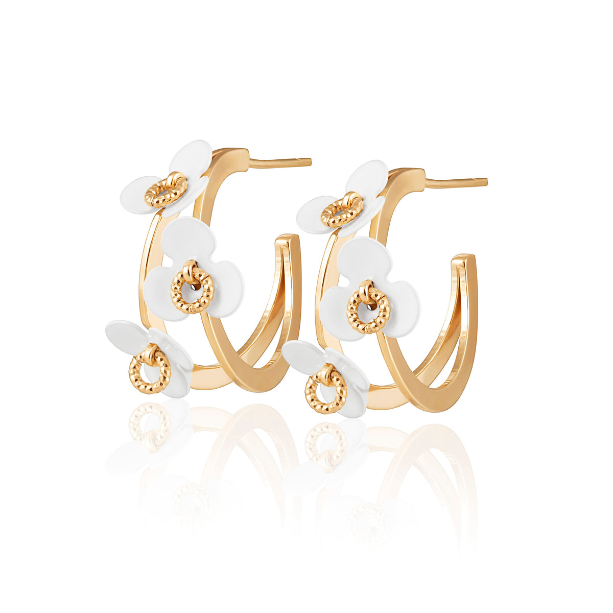 Idalia Jewelry-The Flower Hoop Earrings