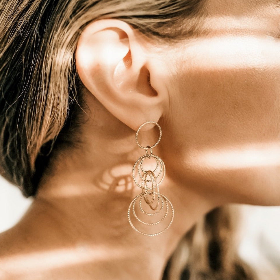 The Circle Drop Earrings