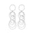 Idalia Jewelry The Cirlce Drop Earrings - Silver