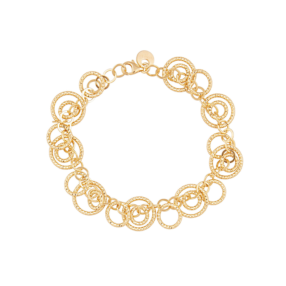 Idalia Jewelry The Circle Chain Link Bracelet Gold