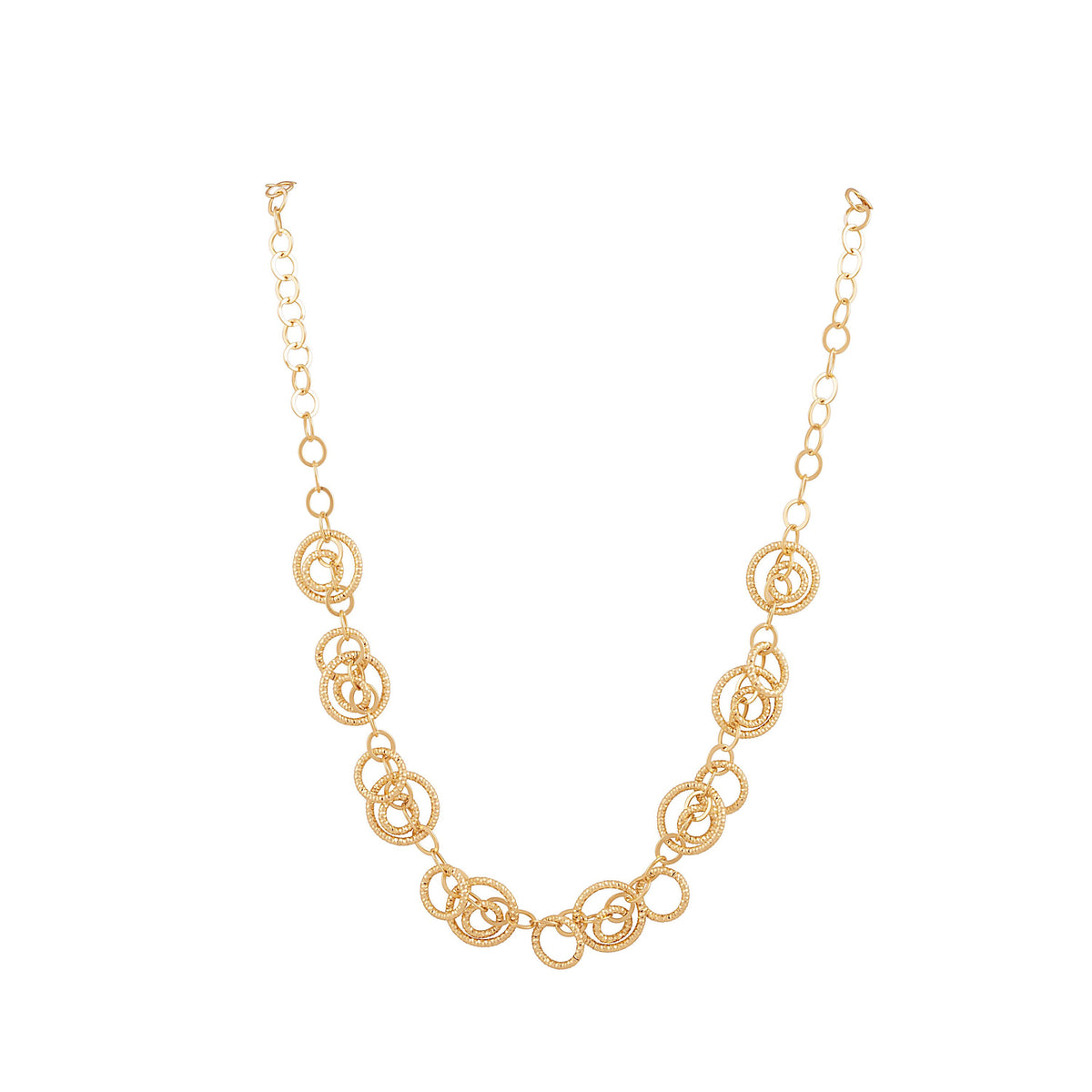 Idalia Jewelry The Circle Chain Link Necklace Gold