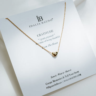Idalia Jewelry-Gold Gratitude Necklace