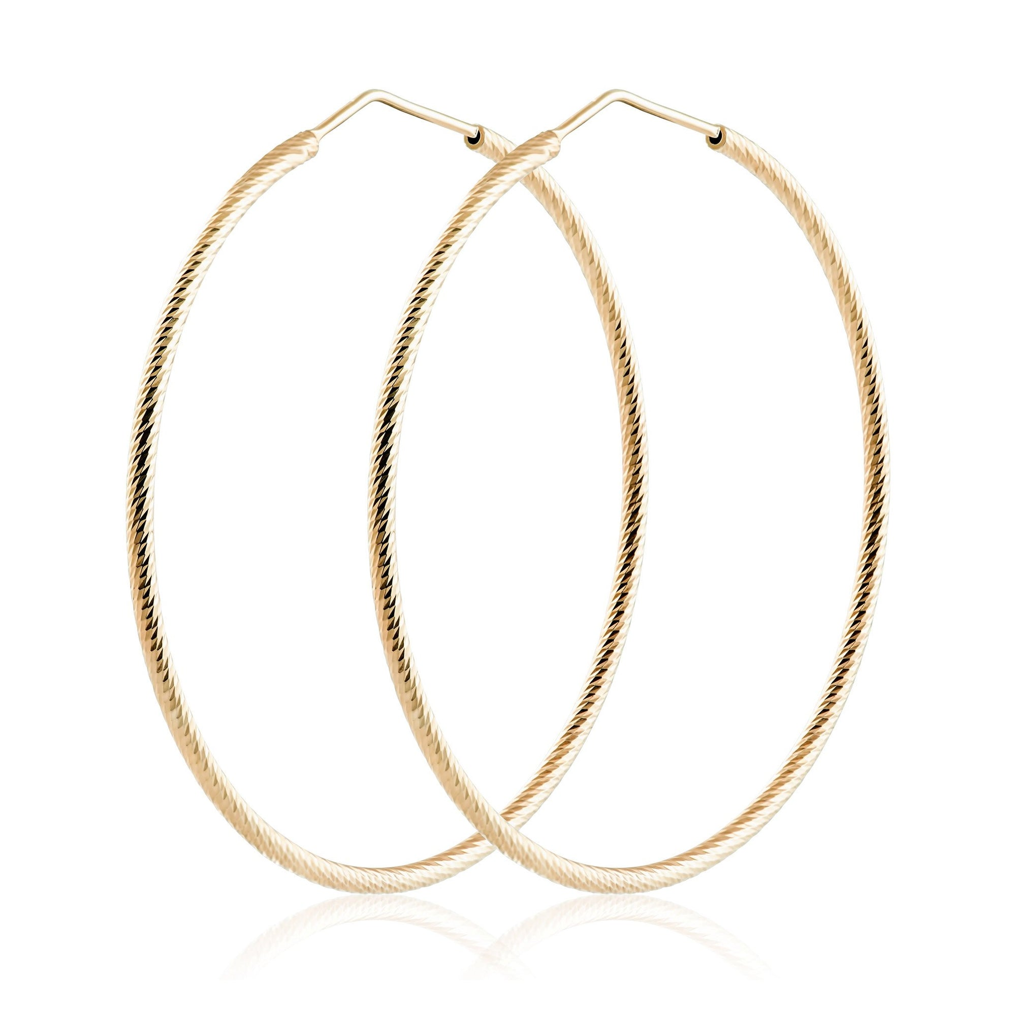 Idalia Jewelry Diamond Cut Hoops Gold