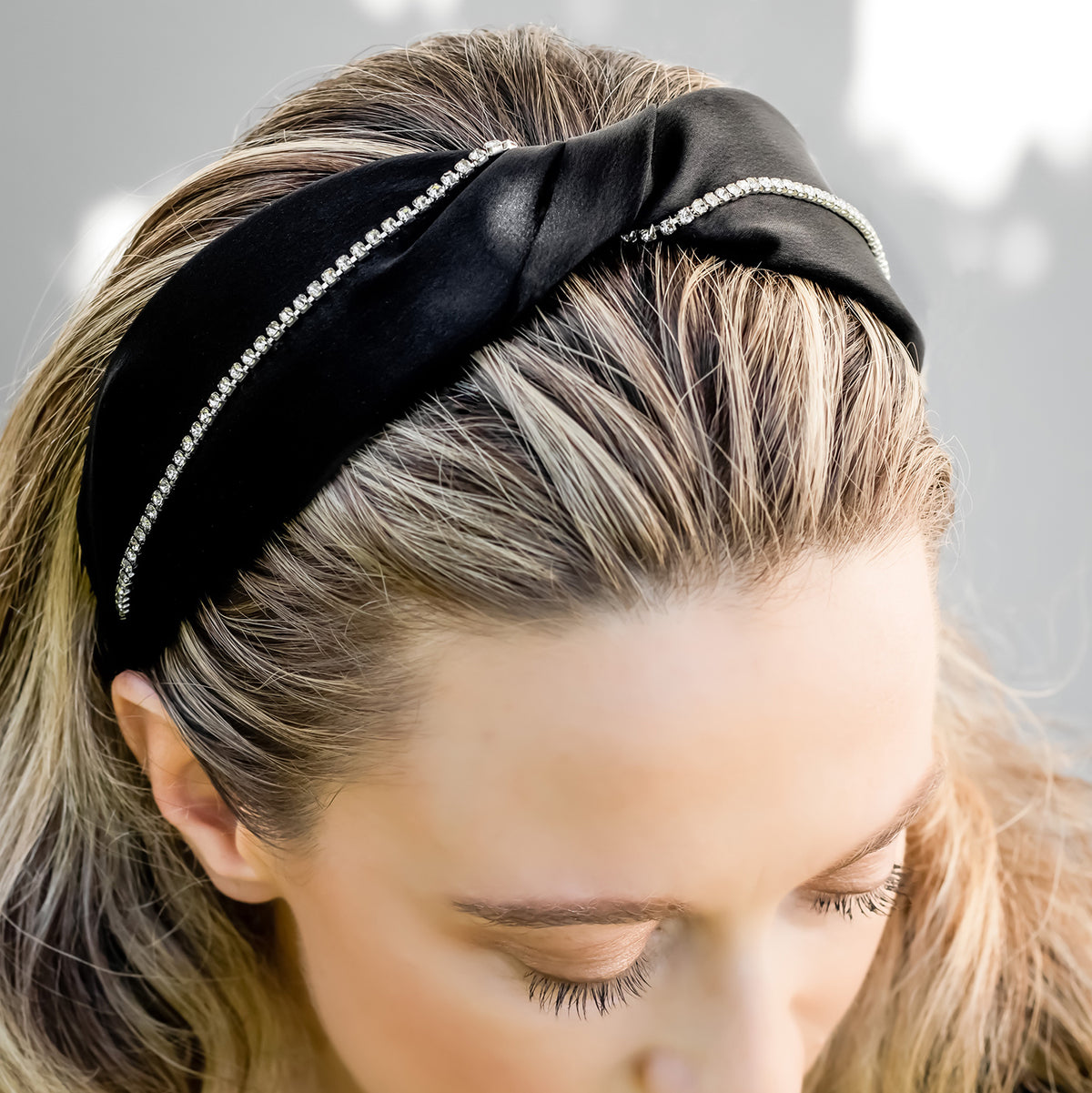 Headbands by IDALIA - Bridget - Crystal Trim