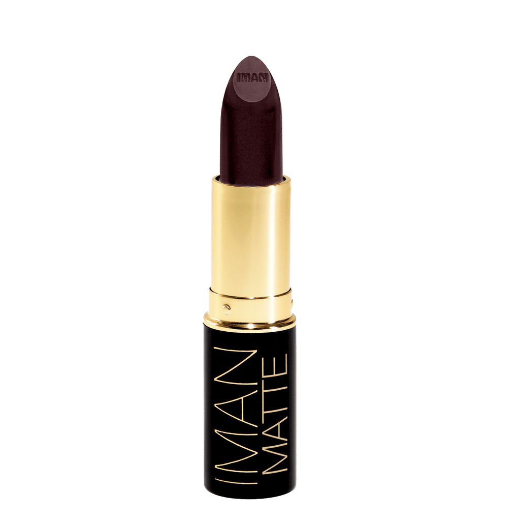IMAN Fetish Matte Lipstick is a purple perfect for olive asian and dark skin tones