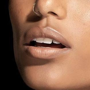 IMAN Nude - Beige moisturizing lipstick for dry lips